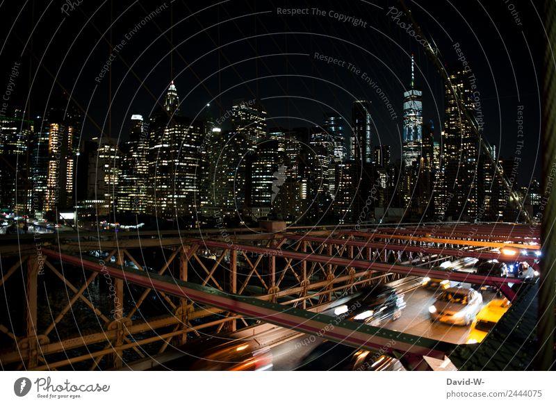 New York schläft nie Mensch Ferien & Urlaub & Reisen Straße Architektur Lifestyle Leben Umwelt Business Kunst Tourismus Ausflug PKW Verkehr Hochhaus groß kaufen