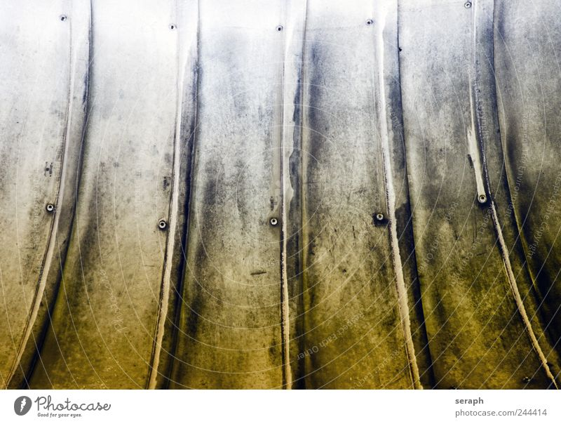 Rippen Metall industriell rill cladding Strukturen & Formen Ordnung Strukturwandel Gebäude Konstruktion Stahl Eisen Konsistenz Biegung Knick modern part Linie