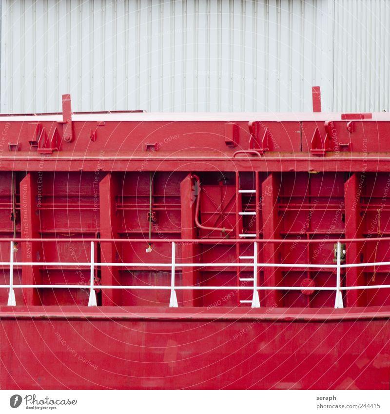 Schiffsrumpf Wasserfahrzeug rot striking Metall huge massiv gewaltig Schweißnaht Eisenplatte Wand Mauer Ferien & Urlaub & Reisen Leiter part Schiffsdeck
