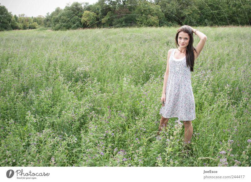 #244417 Frau Natur schön Ferien & Urlaub & Reisen Sommer Erwachsene Ferne Erholung Freiheit Landschaft Stil Zufriedenheit Feld Freizeit & Hobby warten Ausflug