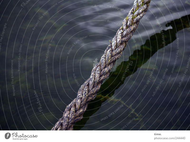 Vorübergehende Bindung Freizeit & Hobby Meer Wellen Segeln Seil tauchen Urelemente Wasser Küste Schifffahrt Ferien & Urlaub & Reisen Außenaufnahme Nahaufnahme