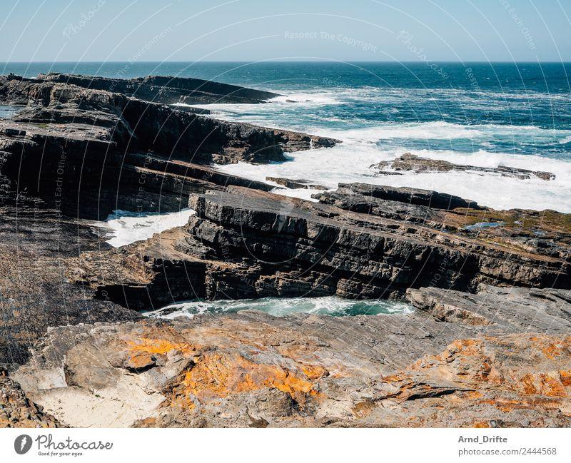 Irland Ferien & Urlaub & Reisen Tourismus Ausflug Abenteuer Freiheit Sommer Sommerurlaub Meer Wellen Landschaft Urelemente Himmel Frühling Schönes Wetter Wind
