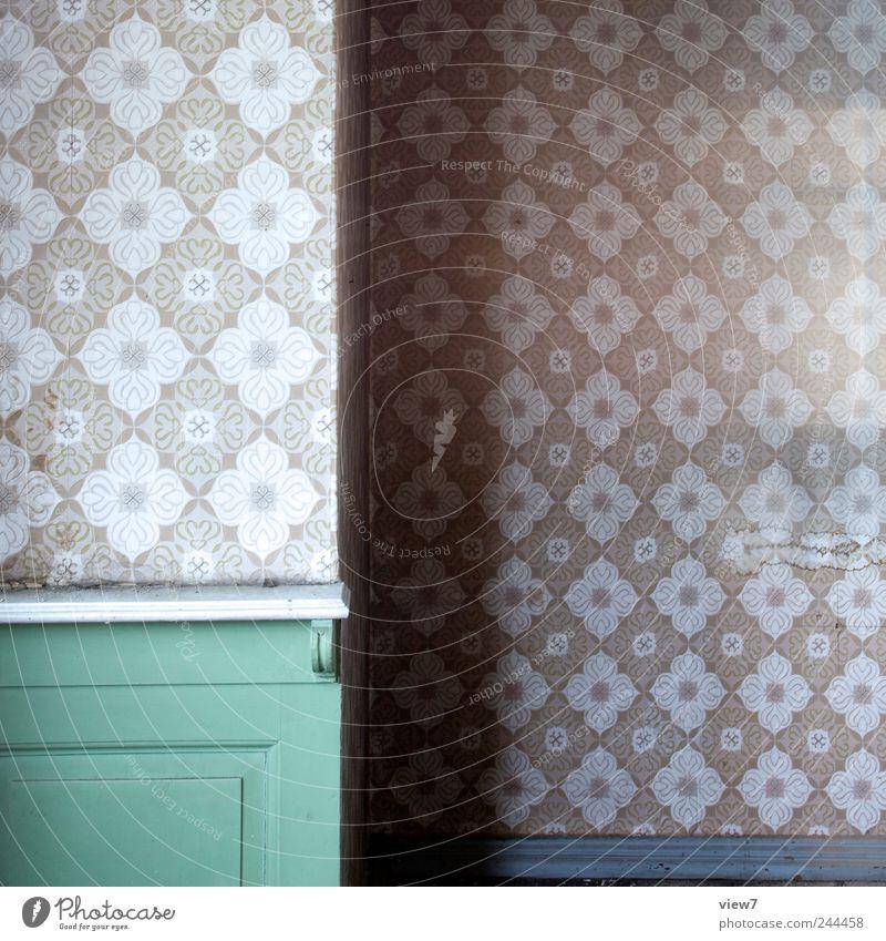 pfefferminze Umzug (Wohnungswechsel) einrichten Dekoration & Verzierung Tapete Raum Holz Streifen alt authentisch einfach elegant frisch retro trist grün