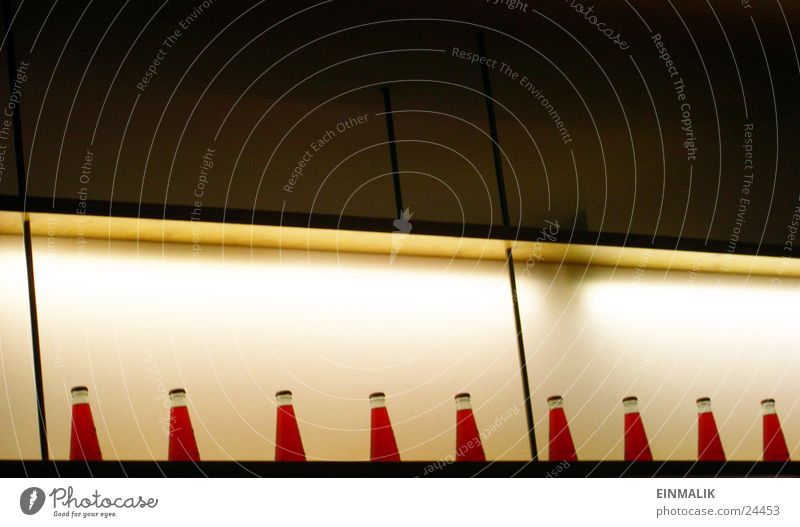Rote Testflüssigkeit rot Regal Licht Café Freizeit & Hobby Flasche Reihe Flüssigkeit