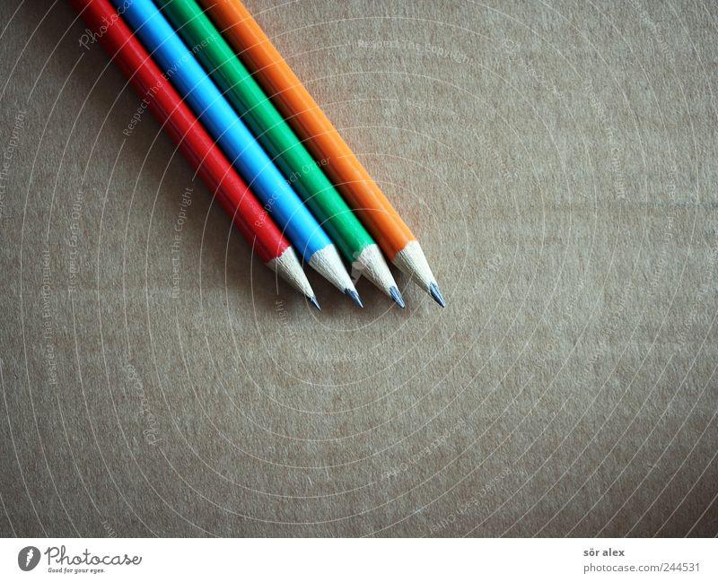 RBGO blau grün rot orange trist Kreativität Spitze Studium malen planen Bildung schreiben zeichnen Stillleben Schreibstift Karton
