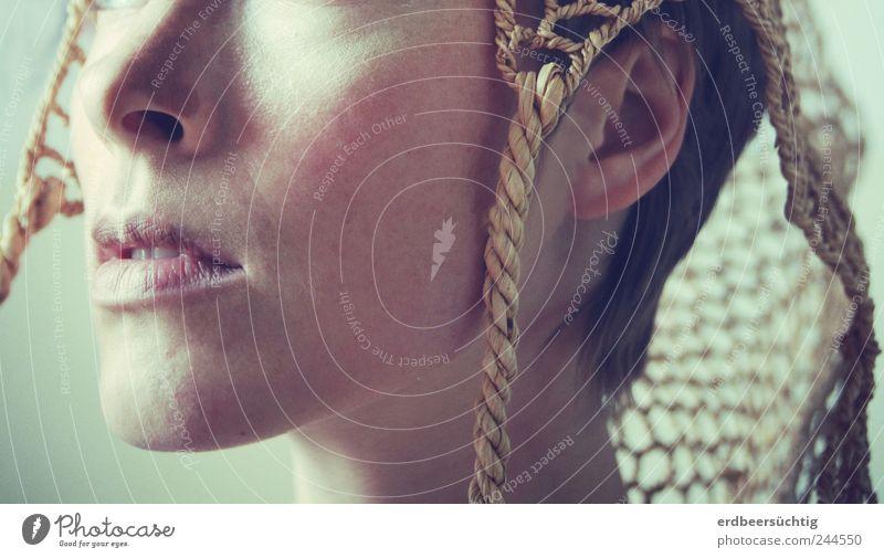 Gedankenstürmerin feminin androgyn Nase Mund Hut Kopfbedeckung kurzhaarig atmen hören ästhetisch außergewöhnlich einzigartig Identität innovativ Sinnesorgane