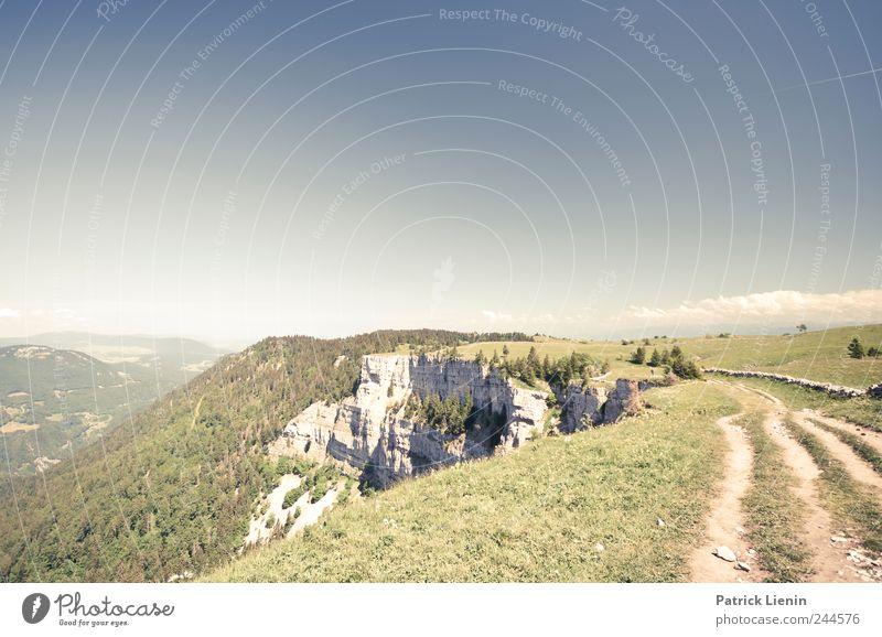 du bist den ganzen Weg gerannt Himmel Natur grün Sommer Ferien & Urlaub & Reisen Ferne Wiese Freiheit Umwelt Berge u. Gebirge Landschaft Wege & Pfade Luft Felsen Ausflug wandern