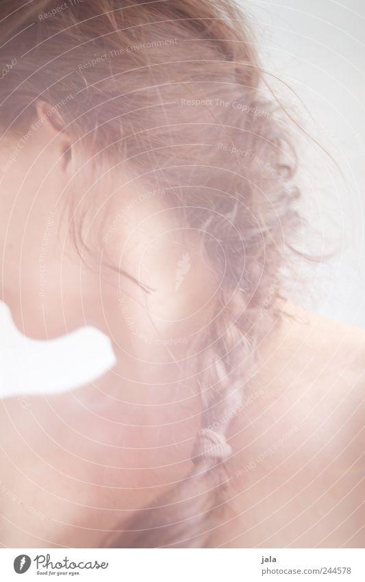 nochmal so wie letzte nacht Mensch Frau Erwachsene feminin Haare & Frisuren Glück Kopf ästhetisch Warmherzigkeit brünett langhaarig Zopf Sympathie Perspektive