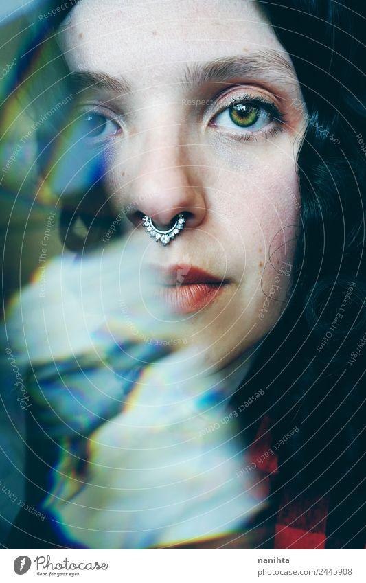 Frau Mensch Jugendliche Junge Frau schön 18-30 Jahre Gesicht Erwachsene feminin Stil Kunst Haare & Frisuren Design Zufriedenheit ästhetisch Kultur