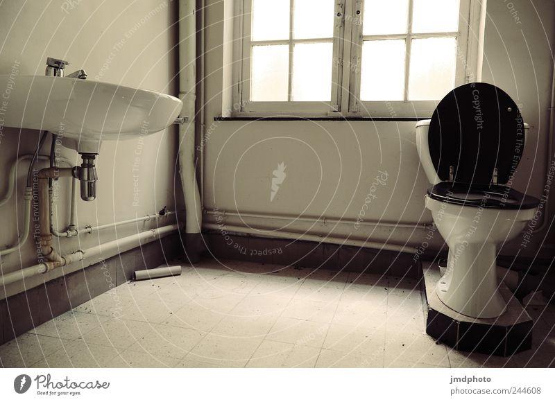 oldschool toilette alt Einsamkeit Haus Fenster Tod Traurigkeit kaputt trist Vergänglichkeit Trauer Bad verfallen Vergangenheit Toilette Verfall trashig