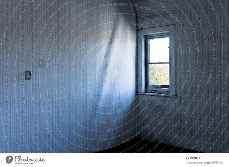 Das kleine Fensterchen ruhig Einsamkeit dunkel Wand Stil Mauer träumen Traurigkeit Angst Raum Zeit Design Lifestyle trist Häusliches Leben