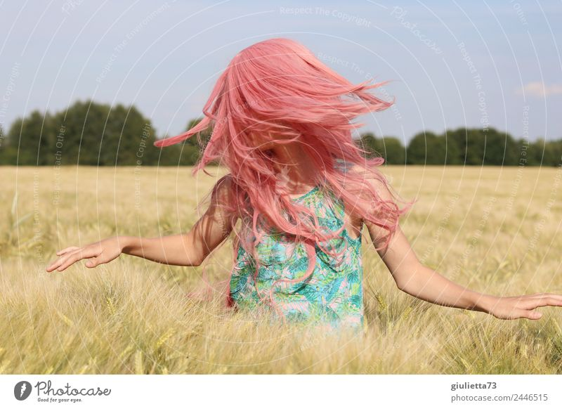 Pink summer | Sei frei, sei du selbst & groove mit ... Kind Mensch Jugendliche Junge Frau Sommer Sonne Mädchen Leben feminin Bewegung Glück Freiheit