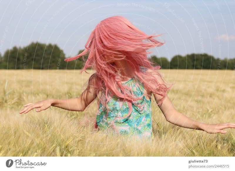 Pink summer | Sei frei, sei du selbst & groove mit ... feminin Mädchen Junge Frau Jugendliche Leben Haare & Frisuren 1 Mensch 8-13 Jahre Kind Kindheit