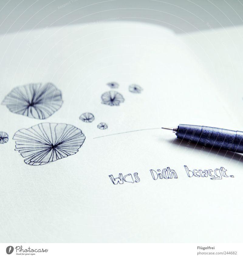 ////////// Was Dich bewegt /// weiß Linie hell Design Studium rund schreiben Grafik u. Illustration malen zeichnen Schreibstift Kreativität fein Kunstwerk