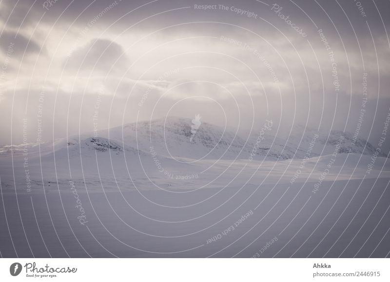 Winter im hohen Norden, Troms, Norwegen Erholung Abenteuer Expedition Winterurlaub Landschaft Wolken Klima Eis Frost Schnee Berge u. Gebirge leuchten exotisch