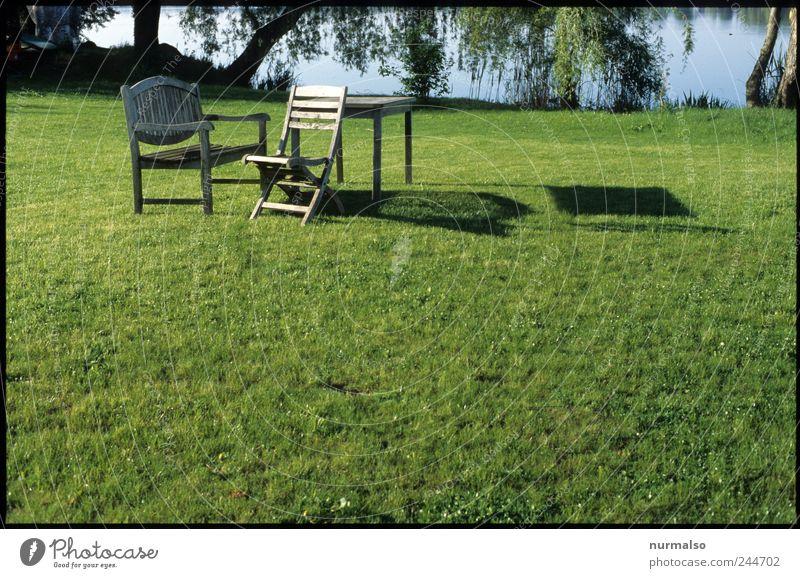 Frühstücksplatz Natur grün schön Freude ruhig Leben Wiese Garten Stimmung Kunst Freizeit & Hobby sitzen ästhetisch leer Lifestyle Häusliches Leben