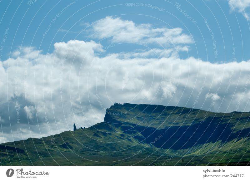 Schottland II Natur Himmel grün blau Sommer Wolken Berge u. Gebirge Landschaft Umwelt Felsen Europa Klima Hügel Vulkankrater emporragend