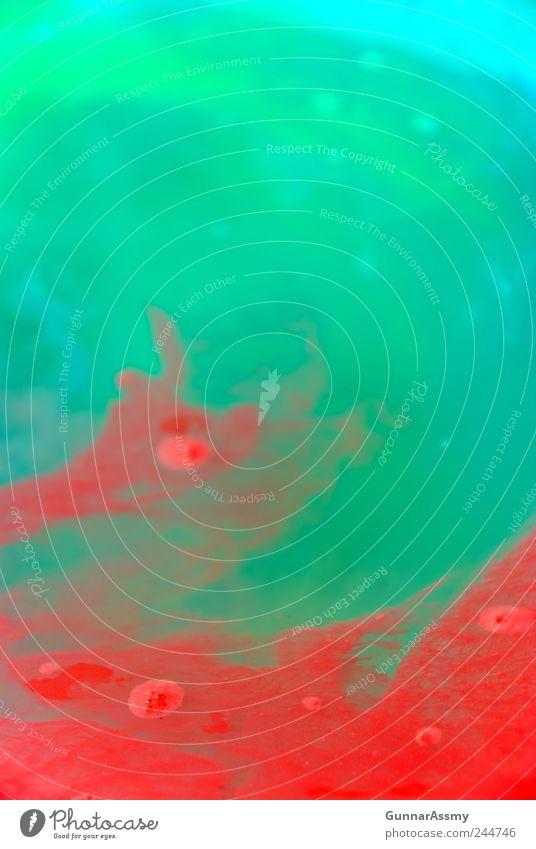 Panta rhei II Kunst Wasser ästhetisch außergewöhnlich Unendlichkeit wild blau mehrfarbig grün rot Bewegung bizarr chaotisch einzigartig skurril Stil Farbfoto