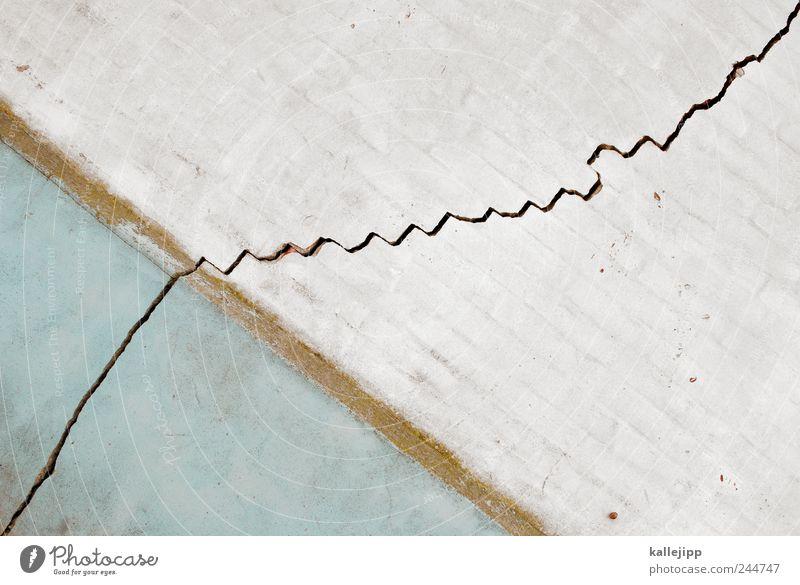 dax mit fieberkurve Wand Mauer Backstein Verfall Wirtschaft Riss Diagramm