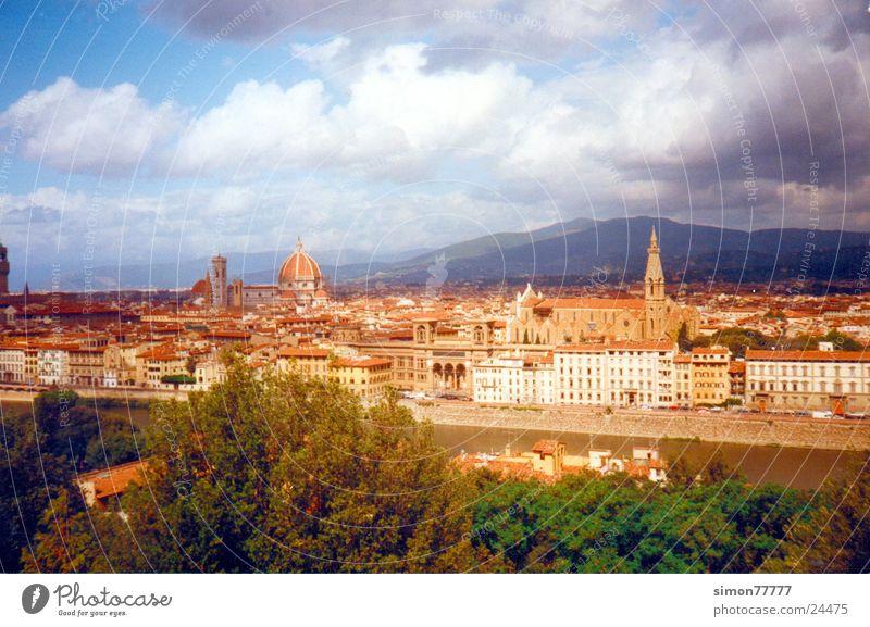 Florenz Himmel Stadt Wolken Europa Toskana Italien Florenz
