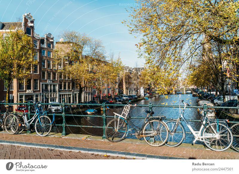 Schöne Architektur niederländischer Häuser und Hausboote elegant Stil Design Ferien & Urlaub & Reisen Tourismus Ausflug Freiheit Sightseeing Städtereise
