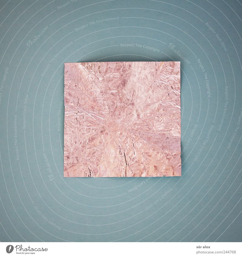 Zum Quadrat ² Papier Zettel Verpackungsmaterial eckig blau silber innovativ Inspiration modern Symmetrie Geometrie Würfel Strukturen & Formen Rechteck