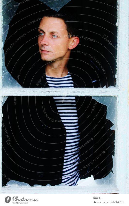 Matrosenaufstand Mensch maskulin Junger Mann Jugendliche 1 18-30 Jahre Erwachsene träumen Farbfoto Außenaufnahme Tag Porträt