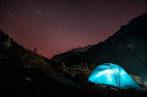 Bergcamping unter Sternenhimmel Freizeit & Hobby Ferien & Urlaub & Reisen Tourismus Ausflug Abenteuer Freiheit Expedition Camping Fahrradtour Berge u. Gebirge