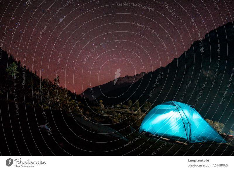 Himmel Natur Ferien & Urlaub & Reisen blau Landschaft rot Berge u. Gebirge Tourismus Freiheit Felsen Ausflug Freizeit & Hobby wandern Abenteuer Stern