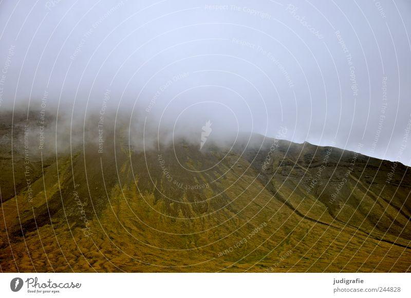 Island Umwelt Natur Landschaft Himmel Klima Hügel Berge u. Gebirge Vulkan bedrohlich dunkel natürlich Stimmung Farbfoto Gedeckte Farben Außenaufnahme
