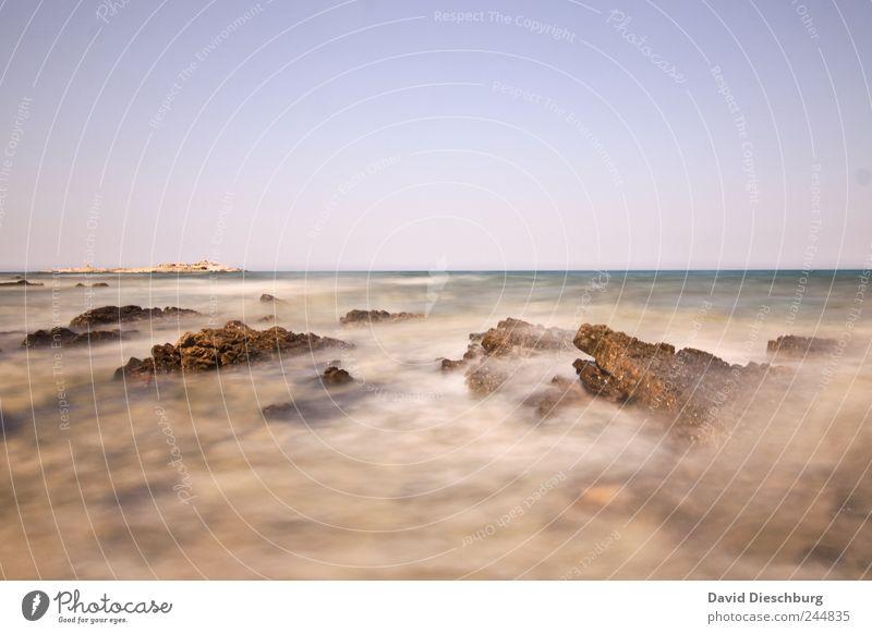 Westküste / Kreta Ferien & Urlaub & Reisen Ferne Freiheit Sommerurlaub Meer Insel Natur Landschaft Wolkenloser Himmel Horizont Schönes Wetter Küste Bucht Riff