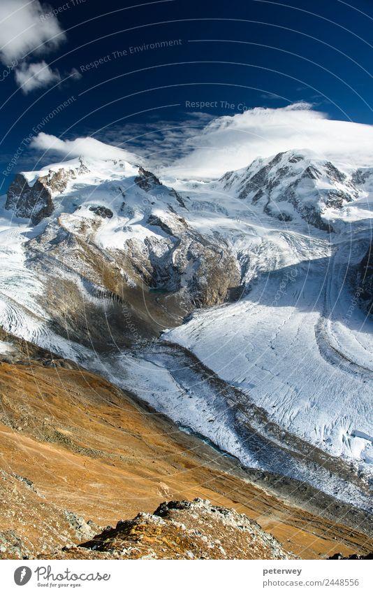 Monte Rosa and Lyskamm mountain panorama from Gornergrat Freizeit & Hobby Ferien & Urlaub & Reisen Ausflug Abenteuer Ferne Freiheit Berge u. Gebirge wandern