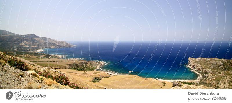 Panorama Deluxe* Natur blau Ferien & Urlaub & Reisen Sommer Meer Strand Erholung Ferne Landschaft Freiheit Küste Horizont braun Wellen Reisefotografie Insel