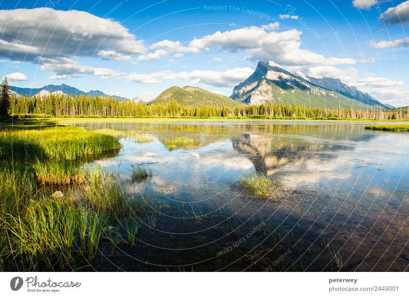 Himmel Natur Sommer blau Farbe schön grün Landschaft Wolken Wald Berge u. Gebirge Gras See Aussicht Teich Wildnis