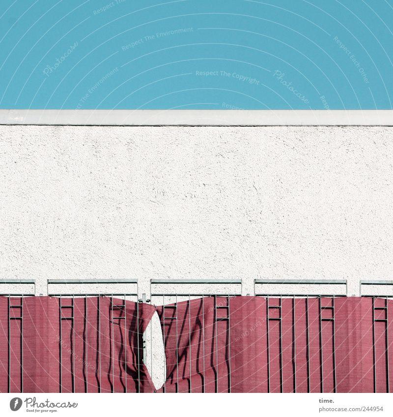 Hamburg, Eppendorfer Weg Himmel weiß blau Haus Wand Mauer Gebäude Architektur rosa Hochhaus Fassade Dach Schutz Balkon Bauwerk