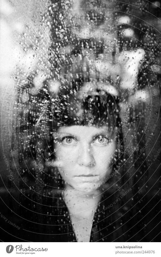we will become silhouettes Frau Mensch Jugendliche dunkel feminin Gefühle Fenster Traurigkeit Regen Stimmung Umwelt Kraft Angst Erwachsene glänzend Glas