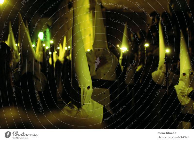 Semana Santa I weiß Religion & Glaube Maske Leidenschaft Mütze Loch Spanien mystisch Geister u. Gespenster Kruzifix Tradition Mallorca Kapuze Christentum