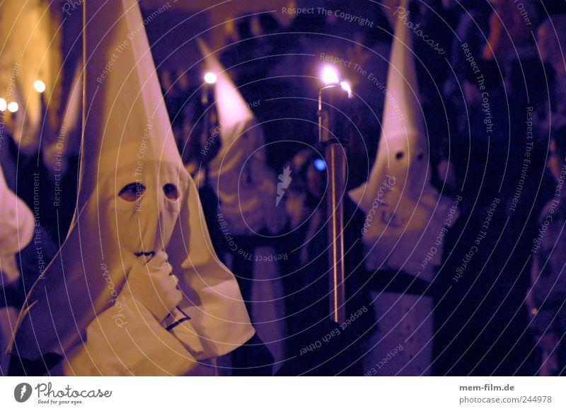Semana Santa II weiß Religion & Glaube Maske Leidenschaft Mütze Loch Spanien mystisch Geister u. Gespenster Kruzifix Tradition Mallorca Kapuze Christentum