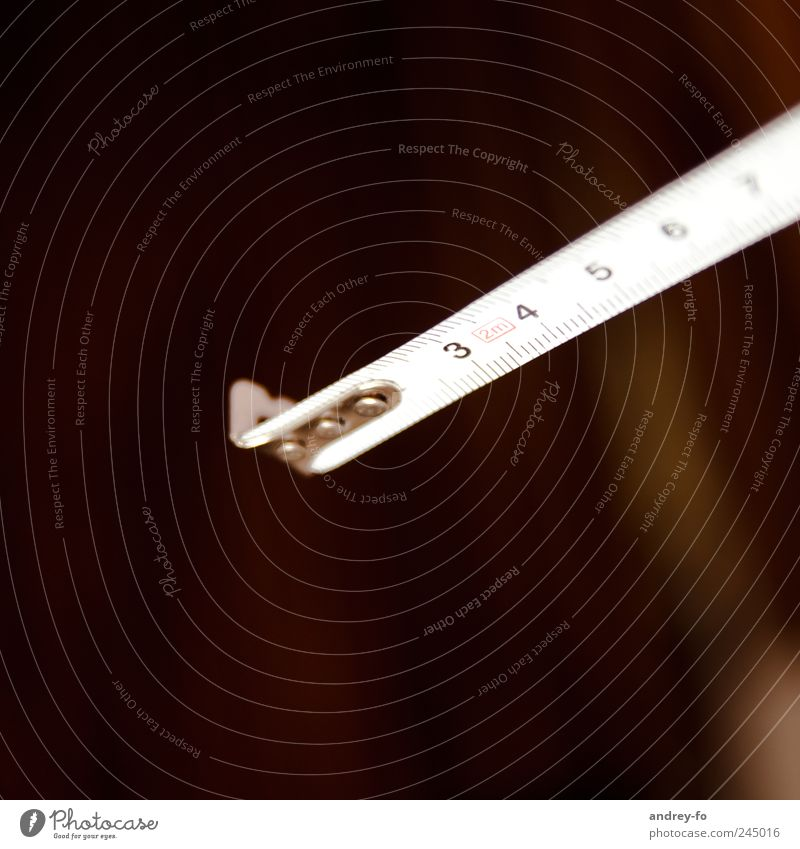 "Maßband Basteln Handwerker Werkzeug Messinstrument lang braun weiß planen Ziffern & Zahlen messen Skala Zollstock Millimeter Meter ""3,4,5"" Maßstab mm cm"