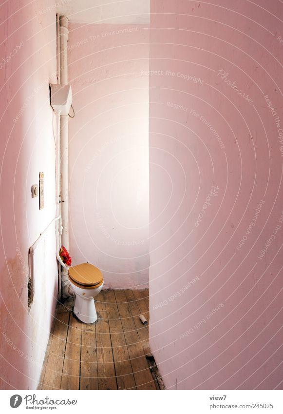 Örtchen Bad Stein Beton Linie alt authentisch dreckig exotisch frisch positiv rosa Romantik schön Neugier Überraschung ästhetisch elegant Genauigkeit Ordnung