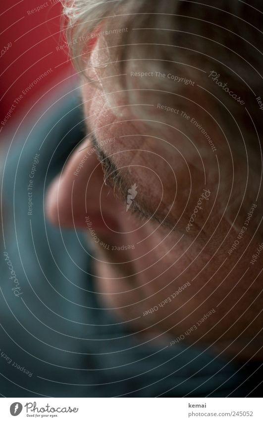 Gesichtshaare Mensch Mann rot grau Kopf Erwachsene Nase maskulin Wimpern Augenbraue Stirn 45-60 Jahre grauhaarig