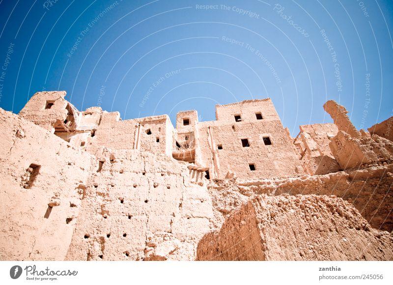 historic district alt Haus Architektur Gebäude braun Zeit Wachstum Häusliches Leben Wandel & Veränderung Bauwerk historisch Zerstörung Altstadt Leerstand Marokko