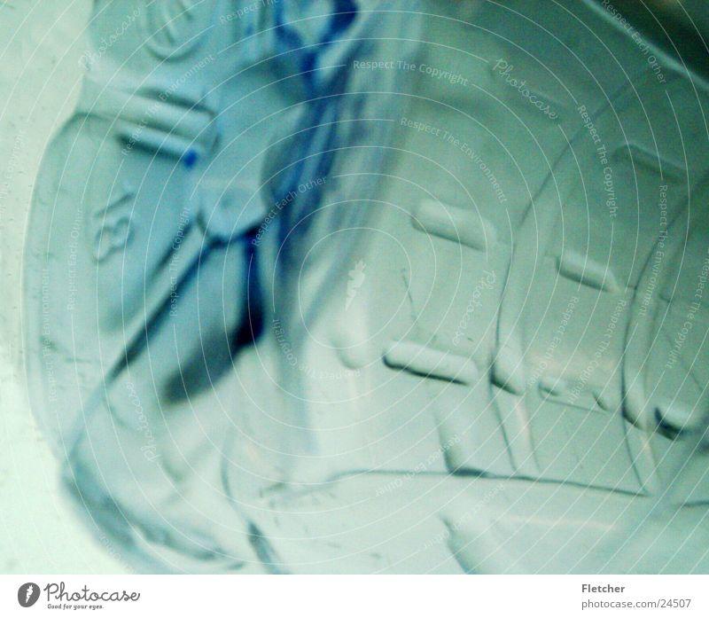 Flasche flach durchleuchtet Fototechnik Kunststoff Strukturen & Formen Hintergrung Lampe Statue Flaschenboden