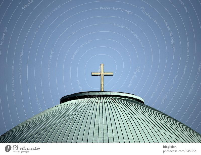 St Hedwig I Himmel blau grün Religion & Glaube Deutschland Kirche Europa Dach Christliches Kreuz Sehenswürdigkeit Kreuz Christentum