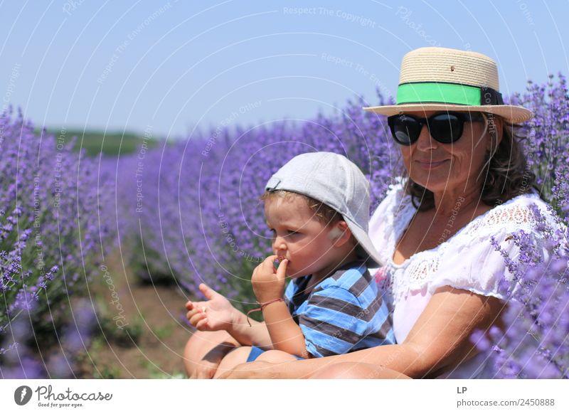 Im Lavendelfeld Lifestyle Stil Freude schön Alternativmedizin Wellness Leben harmonisch Wohlgefühl Zufriedenheit Sinnesorgane Erholung Duft Häusliches Leben
