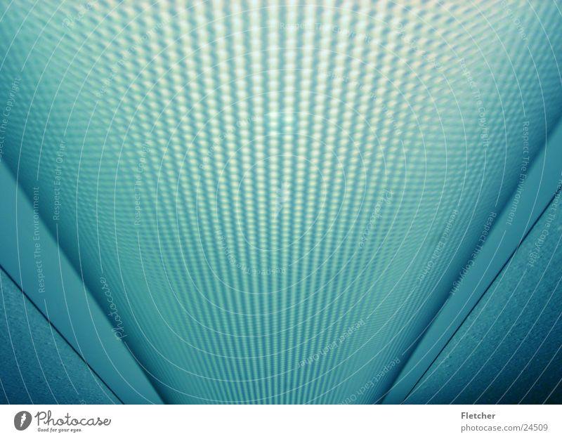 Leuchte Lampe lang Wölbung Loch Elektrisches Gerät Technik & Technologie blau Scheinwerfer Strukturen & Formen hell
