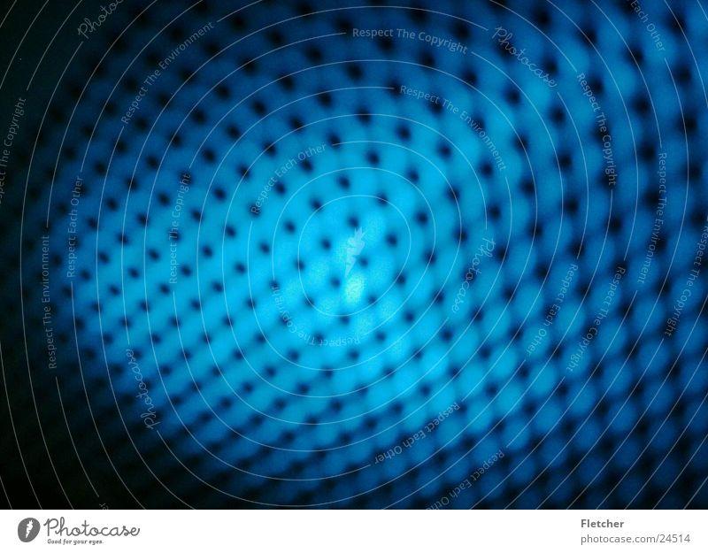 Struktur blau schwarz Lampe dunkel Loch Fototechnik