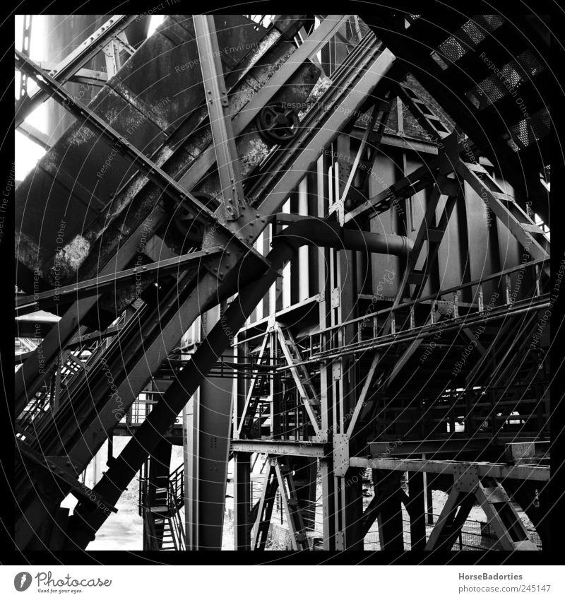 Hochofen (Detail) Duisburg Deutschland Menschenleer Industrieanlage Fabrik Architektur Industrieruine Sehenswürdigkeit Denkmal Verfall Schwarzweißfoto