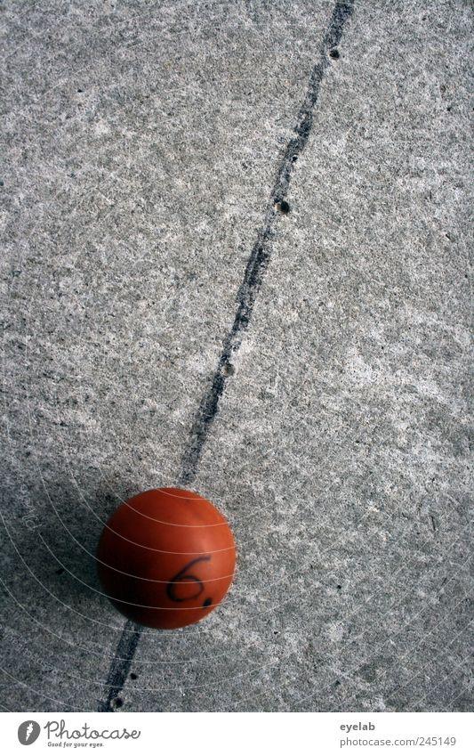 Sex in der Umlaufbahn alt rot Freude Spielen grau Linie orange dreckig rund retro Ziffern & Zahlen Ball Kitsch Zeichen Kugel 6