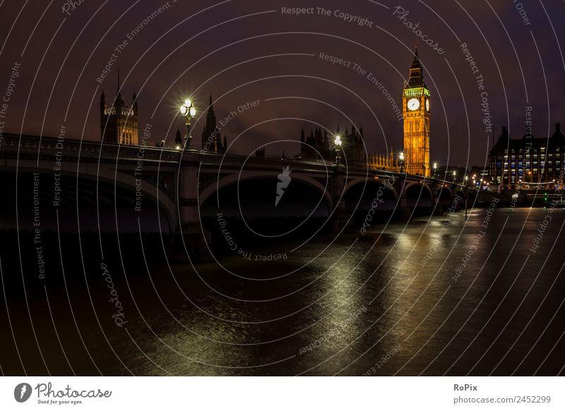 Westminster Bridge Ferien & Urlaub & Reisen Tourismus Sightseeing Städtereise Wirtschaft Architektur Umwelt Landschaft Wasser Flussufer London England